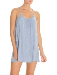 In Bloom Birdsong Embroidered Chemise Chambray