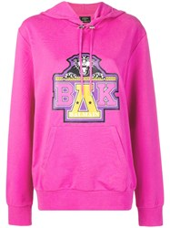 Balmain X Beyonce Printed Hoodie Pink And Purple