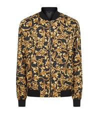Versace Baroque Print Bomber Jacket Male Gold