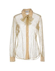 Moschino Cheap And Chic Moschino Cheapandchic Shirts Shirts Women Gold