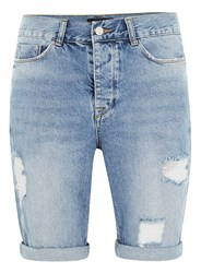 Antioch Blue Indigo Ripped Slim Denim Shorts