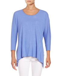 Lord And Taylor Asymmetrical Knit Top Blue