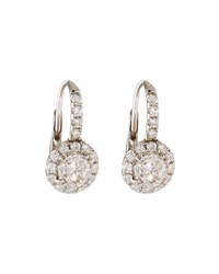 Diana M. Jewels 18K Round Diamond Drop Earrings