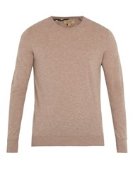 Burberry Kenneth Crew Neck Cashmere Sweater Camel