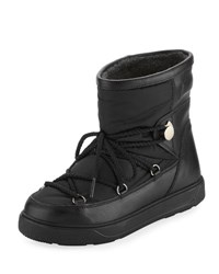 Moncler New Fanny Lace Up Snow Boot Black