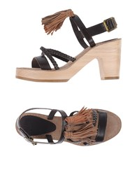 Mtng Sandals Dark Brown
