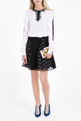 Giamba Women S Floral Embroidered Skirt Boutique1 Black