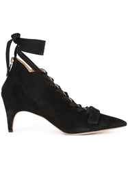 Derek Lam Lace Up Booties Black