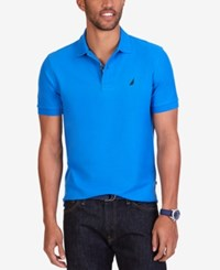 Nautica Men's Short Sleeve Performance Deck Polo Blue