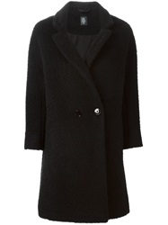 Eleventy Double Breasted Coat Black