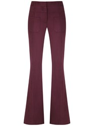 Olympiah Slim Fit Flared Trousers Purple