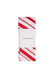 Balenciaga Candy Striped Tights Red White