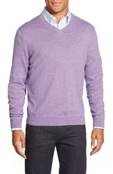 Nordstrom Men's Big And Tall V Neck Sweater Purple Sage Heather