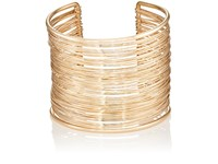 Kenneth Jay Lane Women's Wide Band Wire Cuff No Color