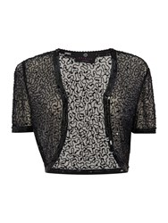 Ariella Cap Sleeve Sequin Cardi Black