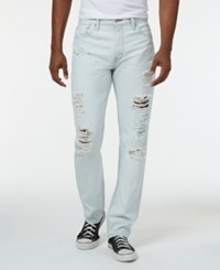 Levi's 511 Slim Fit Ripped Jeans Trashed Destructed