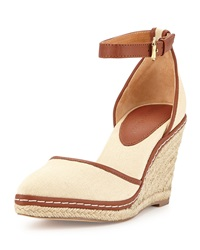 Charles David Keiko Canvas Espadrille Wedge Sand