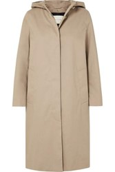 Mackintosh Chryston Hooded Bonded Cotton Trench Coat Beige