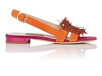 Zac Posen Domenic Suede And Leather Sandals Multi