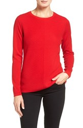 Nordstrom Women's Collection Mitered Rib Cashmere Pullover