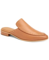 Calvin Klein Floral Studded Slip On Mules Women's Shoes Almond Tan