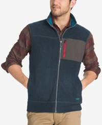 G.H. Bass And Co. Men's Big And Tall Zip Up Vest Blue Nights Heather