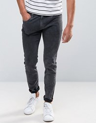 Bellfield Skinny Washed Black Jeans Black Navy