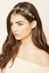 Forever 21 Floral Headwrap Gold