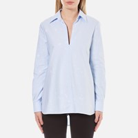 Alexander Wang Women's A Line Tunic Shirt Pacific Blue
