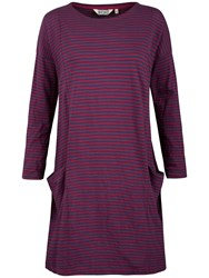 Seasalt Mill Pool Stripe Jersey Dress Weatherboard Galley Wine
