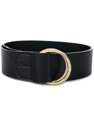 Rochas Double Ring Belt Black