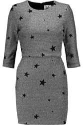 Zoe Karssen Metallic Jacquard Mini Dress Silver