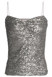 Bailey 44 Tour De Force Sequined Tulle Camisole Silver