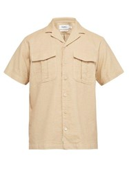 Schnayderman's Cotton And Linen Blend Shirt Beige