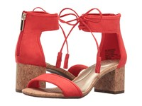 Bandolino Semise Red Faux Suede Women's Sandals