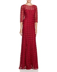 Kay Unger Embroidered Gown