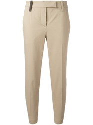 Brunello Cucinelli Tailored Cropped Trousers Nude Neutrals