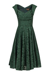 Jolie Moi Ruched Crossover Bust Prom Dress Dark Green