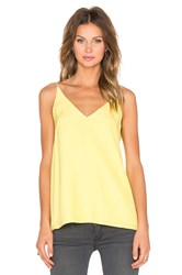 Acler Keller Silk Cami Yellow