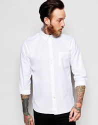 Paul Smith Jeans Oxford Shirt In Tailored Slim Fit White