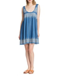 Plenty By Tracy Reese Flyaway Embroidered Dress Chambray