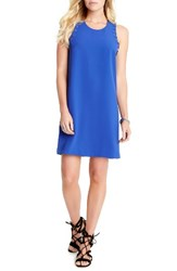 Karen Kane Women's Grommet Detail Crepe Shift Dress Iris