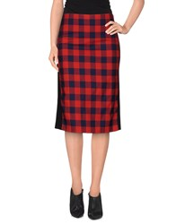 American Retro Skirts Knee Length Skirts Women Red