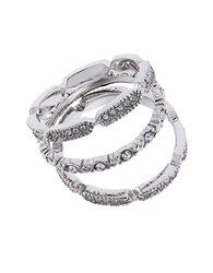 Michela Three Piece Pave Band Rings Silver