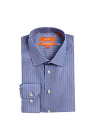 Tallia Orange Striped Dress Shirt Navy