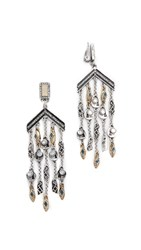 Lulu Frost Citadel Chandelier Clip On Earring Antique Gold Silver Black