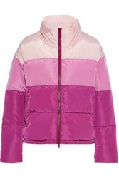 Rebecca Minkoff Woman Rosie Quilted Color Block Shell Coat Pink