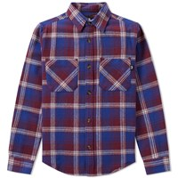 Stussy Twill Weave Plaid Shirt Blue