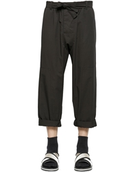 Marni Cotton Twill Capri Pants Black