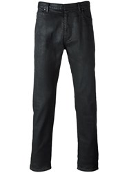 Maison Martin Margiela Coated Straight Leg Jeans Black